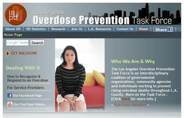 Overdose Prevention Taskforce screenshot