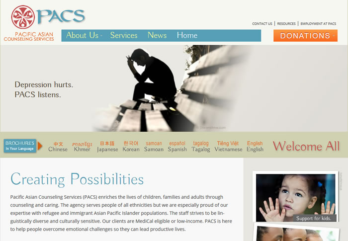 Pacific Asian Counseling Services screenshot