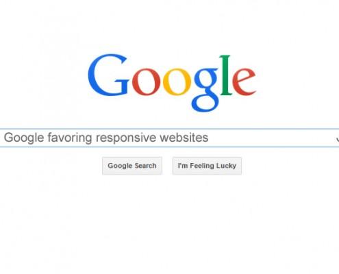 google favors responsive websites