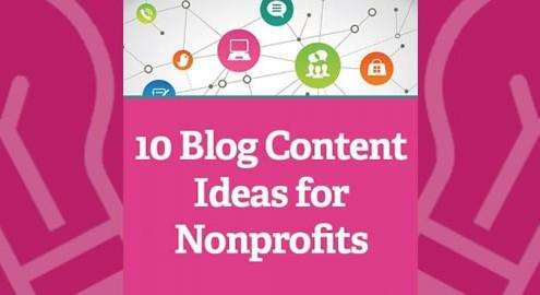 10 blog ideas for nonprofits